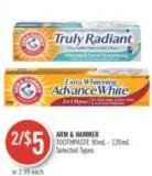 Arm & Hammer Toothpaste 90ml - 120ml