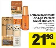 L'oréal Revitalift Or Age Perfect Facial Skin Care - 15-50 mL