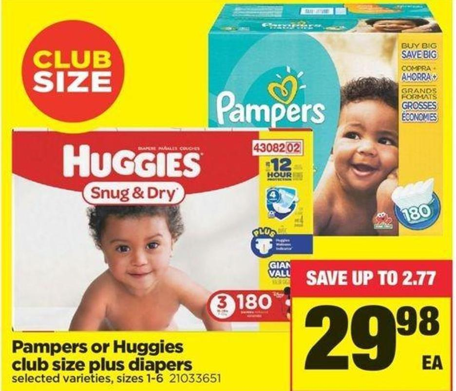 Pampers Or Huggies - Sizes 1-6