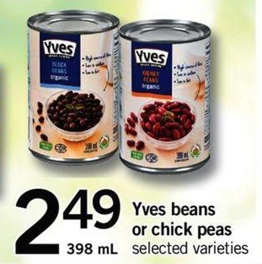Yves Beans Or Chick Peas - 398 Ml