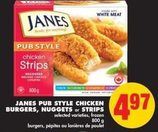 Janes Pub Style Chicken Burgers - Nuggets or Strips - 800 g