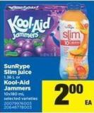 Sunrype Slim Juice - 1.36 L Or Kool-aid Jammers - 10x180 Ml
