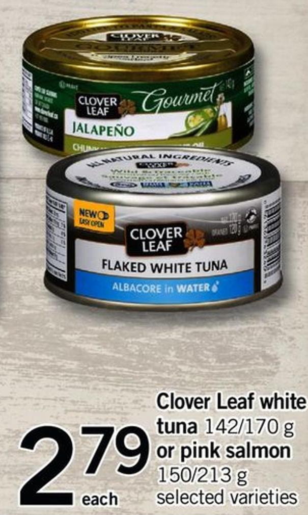 Clover Leaf White Tuna - 142/170 G Or Pink Salmon - 150/213 G