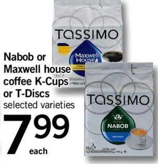 Nabob Or Maxwell House Coffee K-cups Or T-discs