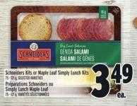 Schneiders Kits Or Maple Leaf Simply Lunch Kits