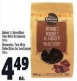 Baker's Selection Two-bite Brownies 300 g