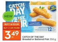 Catch Of The Day Breaded or Battered Fish