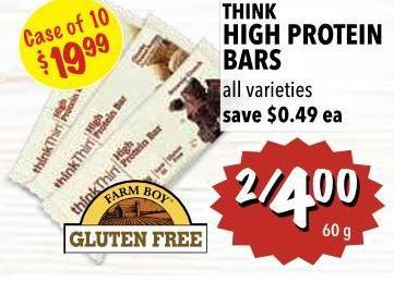 Think High Protein Bars 60 g