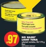 No Name Light Tuna - 85/170 g