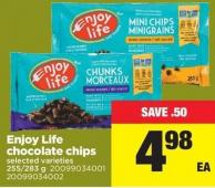 Enjoy Life Chocolate Chips - 255/ 283 g