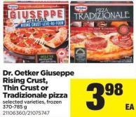 Dr. Oetker Giuseppe Rising Crust - Thin Crust or Tradizionale Pizza - 370-785 g