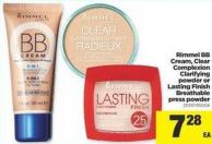 Rimmel Bb Cream - Clear Complexion Clarifying Powder Or Lasting Finish Breathable Press Powder
