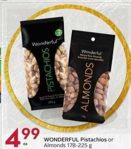 Wonderful Pistachios or Almonds 178 - 225 g