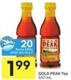 Gold Peak Tea 547 mL - 20 Air Miles Bonus Miles