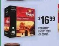 Folgers K-cup PODS - (30 Count)