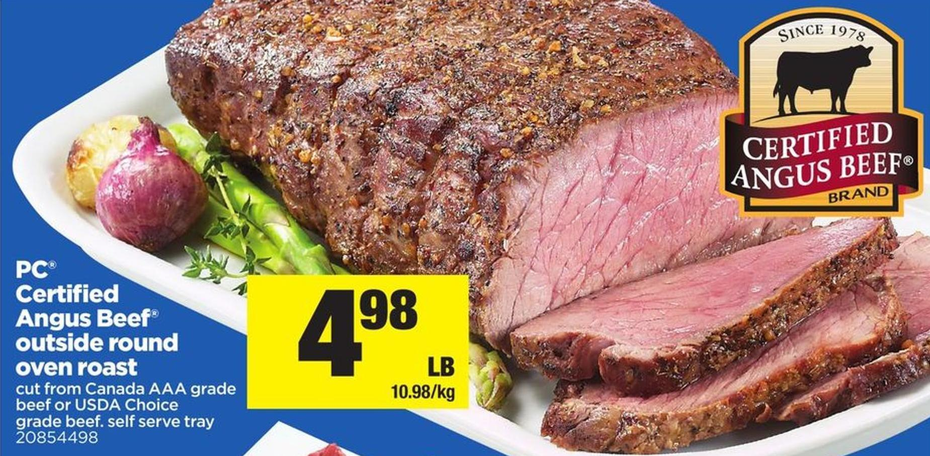 PC Certified Angus Beef Outside Round Oven Roast