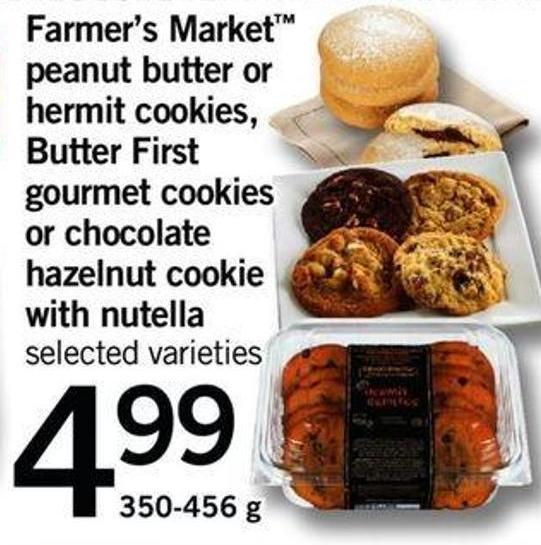 Armer's Market Peanut Butter Or Hermit Cookies - Butter First Gourmet Cookies Or Chocolate Hazelnut Cookie With Nutella - 350-456 g