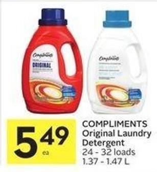 Compliments Original Laundry Detergent