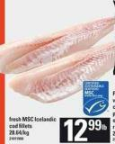Fresh Msc Icelandic Cod Fillets