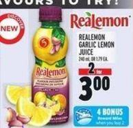 Realemon Garlic Lemon Juice 240 ml - Or 1.79 Ea.