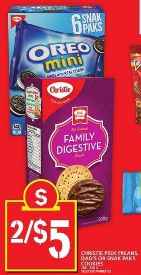 Christie Peek Freans - Dad's Or Snak Paks Cookies