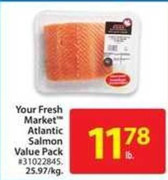Your Fresh Market Atlantic Salmon Value Pack