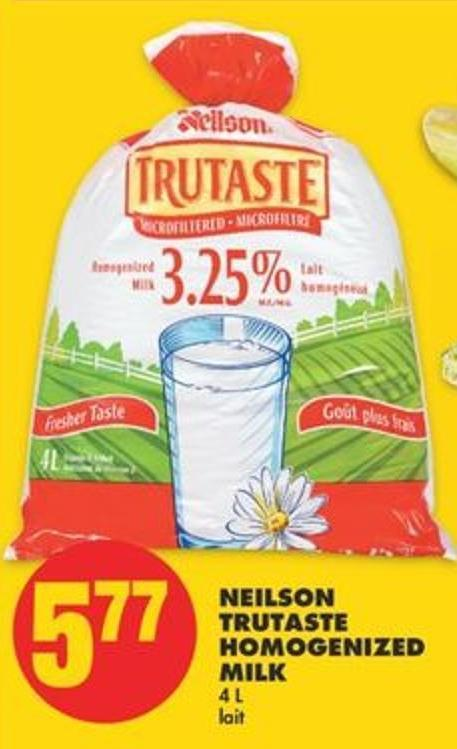 Neilson Trutaste Homogenized Milk - 4 L