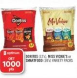 Doritos (12's) - Miss Vickie's or Smartfood (10's) Variety Packs