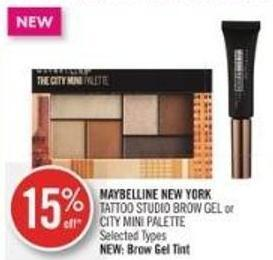 Maybelline New York Tattoo Studio Brow Gel or City Mini Palette