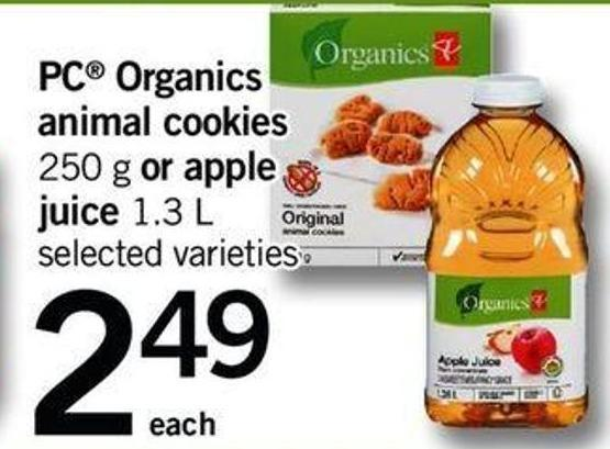 PC Organics Animal Cookies - 250 G Or Apple Juice - 1.3 L