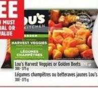 Lou's Harvest Veggies Or Golden Beets