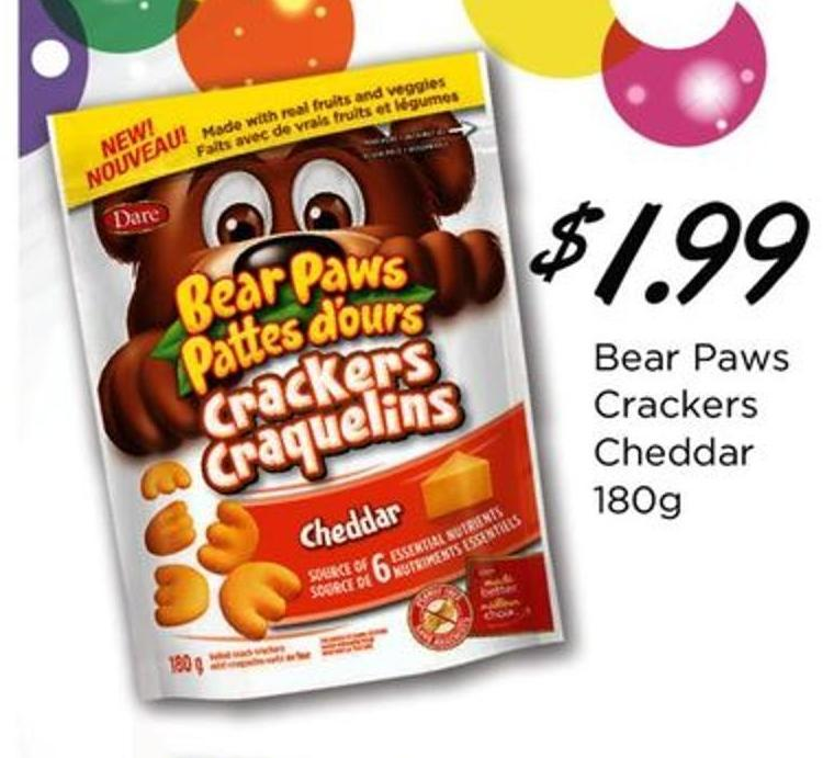 Bear Paws Crackers Cheddar