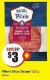 Piller's Sliced Salami 125 g