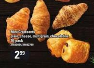 Mini Croissants Plain - Cheese - Multigrain - Chocolatine - 10-pack