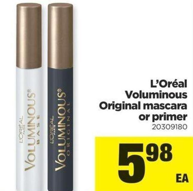 L'oréal Voluminous Original Mascara Or Primer