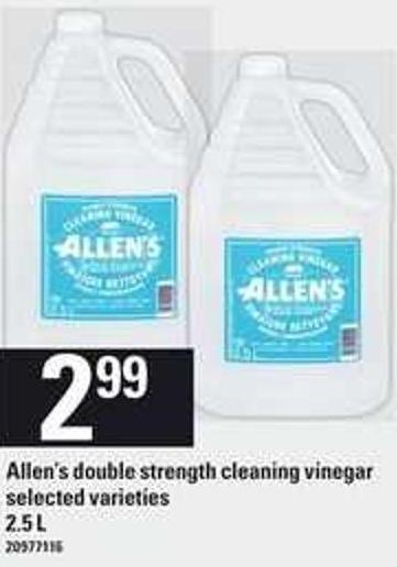 Allen's Double Strength Cleaning Vinegar - 2.5 L