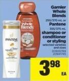 Garnier Whole Blends - 250/370 Ml Or Pantene - 355/375 Ml Shampoo Or Conditioner Or Styling