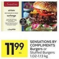Sensations By Compliments Burgers