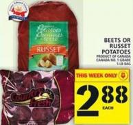 Beets Or Russet Potatoes