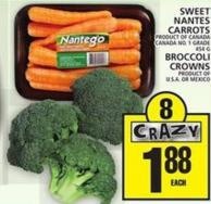 Sweet Nantes Carrots Or Broccoli Crowns