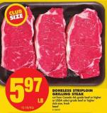 Boneless Striploin Grilling Steak