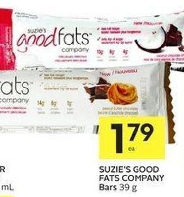 Suzie's Good Fats Company Bars