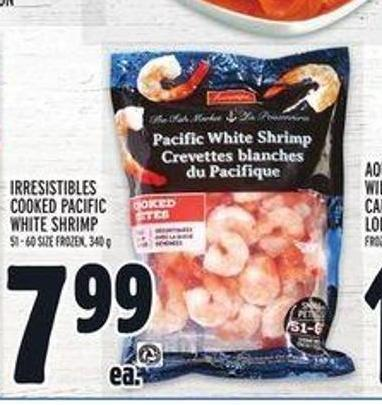 Irresistibles Cooked Pacific White Shrimp
