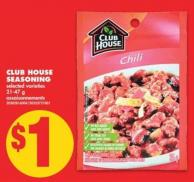 Club House Seasoning - 21-47 g