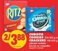 Christie Cookies - 224-303 g or Crackers - 100-454 g