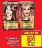 L'Oreal Paris Preference Hair Colour