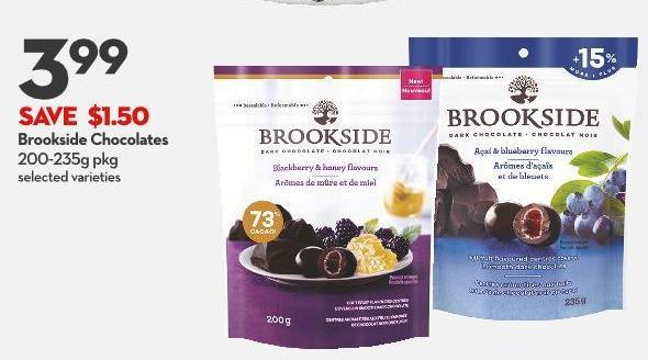 Brookside Chocolates 200-235g Pkg
