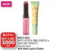 Burt's Bees Matte Lipstick - Pixi Cosmetic or Skin Care Products