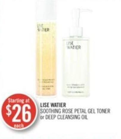 Lise Watier Soothing Rose Petal Gel Toner or Deep Cleansing Oil