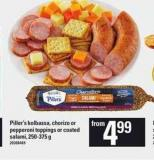 Piller's Kolbassa - Chorizo Or Pepperoni Toppings Or Coated Salami - 250-375 g